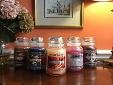 Yankee Candle - LARGE 22oz BLACK BAND *RARE* CANDLES - Choose Your Scent! (30+)