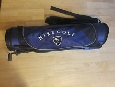 Nike Junior Golf Bag Blue Black With Strap