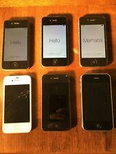 *BULK* Six iphone 4 and 3G - for parts - a1332 a1387 a1387a1242 READ Descript