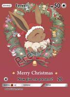 Eevee (Merry Christmas) - Custom Pokemon Card
