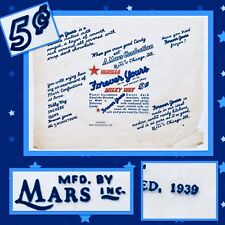 Historical 1939 Mars FOREVER YOURS Milky Way Bar Candy Wrapper AUTHENTIC Chicago