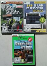 Agro Simulateur 2011 + engins + Bus Driver Gold Collection Jeux PC