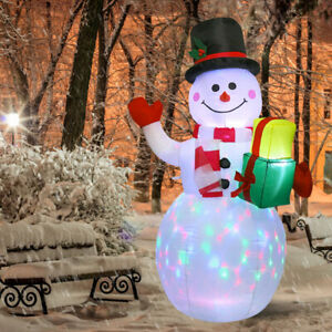 1.5m Giant LED Christmas Santa Inflatable Snowman Airblown Blow Up Outdoor Decor