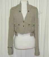 "BEAUTIFUL SASS&BIDE MILITARY SILK CROPPED JACKET 42/6 (AUS 10/12)""AS SHE STANDS"""