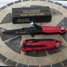 Tac Force AO Fire Fighter Rescue Pocket Spring Assist Pocket Knife New LED LIGHT