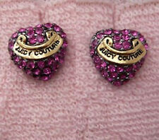 Auth Juicy Couture Pave Heart Stud Earrings Studs $48