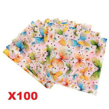 X100 Colorful Butterfly Plastic Bag Gift Decorated Packing Shopping Bag 15X20CM♫
