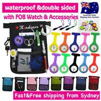 "Nurse Pouch+FOB Watch ""extra pocket"" Nurses Organizer Wallet Pick Bag with Strap"