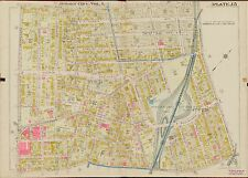 1908 JERSEY CITY, HUDSON COUNTY, NEW JERSEY, BERGEN SQUARE, COPY PLAT ATLAS MAP