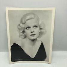 Vintage Press Glossy Photo PHOTOGRAPH Hollywood Movie Jean Harlow fake eyebrows