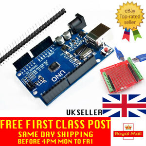 Compatible with Arduino UNO R3 ATMEGA328 - CH340G USB Rev3 UK Seller