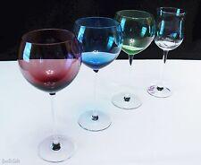 Lenox Crystal LOT OF 4 Stems 1 Floral Spirit Tulip Glass + 3 Balloon Wine Gems