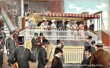 POSTCARD  SUSSEX   GOODWOOD  RACES  Grand  Stand  Royal  Box  Edward  VII