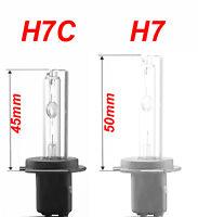 COPPIA LAMPADE LAMPADINE H7C H7 CORTA 6000K RICAMBIO XENON HID LUCE BIANCA BULBO