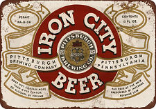 1933 Pittsburgh Iron City Beer Vintage Look Reproduction Metal Sign 8 x 12