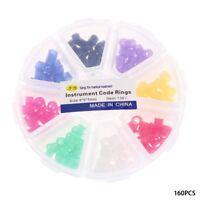 160Pcs Dental Instrument Code Rings Autoclavable Hygienist Silicone 8 Colors