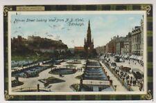 Midlothian postcard - Princes Street, looking West, Edinburgh - RP - P/U 1913