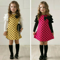 Fashion Toddler Kids Baby Girls Tulle Princess Dress Long Sleeve Party Dresses