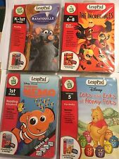 4 Leap Frog Leappad Cart's & Bücher Die Incredibles Ratatouille Findet Nemo Pooh