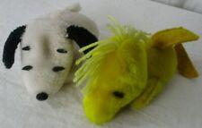 Vintage Butterfly Originals Snoopy & Woodstock Plush Crushed Nutshells 1968