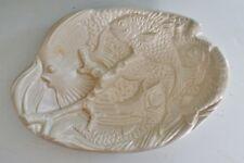 "VTG Haeger Pottery #2121 Fish Relief Bowl 11"" x 8"""
