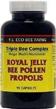 YS Organics Triple Bee Complex Royal Jelly Bee Pollen Propolis 90 Caps