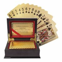 Certificated 24k Pure Gold-Plated Fun Playing Cards Full Poker Deck Gift Box
