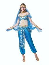 Ladies Fancy Dress Harem Dancer Costume Bollywood Arabian Blue Outfit (AF072)