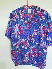 Koret Women's Muti Color Floral Short Sleeve Pull Over Top Shirt Sz 14