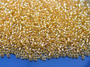 10 g argent-Doublé Cristal Miyuki Japonais Graine Perles-Taille 11 1 2 mm