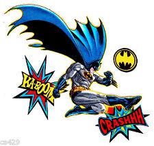 """6"""" BATMAN COMICS  SUPER HERO CHARACTER FABRIC APPLIQUE IRON ON"""