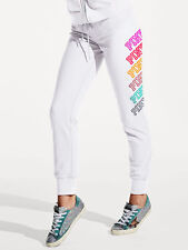 Pink By Victoria's Secret GYM Pants Graphic NWT Color White Sz XSmall