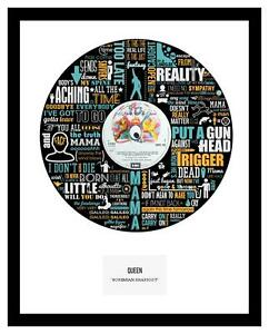 QUEEN  - MEMORABILIA - Bohemian Rhapsody - Vinyl Art - Ltd Edition - Ideal Gift