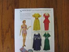 1948 Springmaid Paper doll Set REPRO