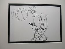 Wile Coyote Playing Basketball   Looney Tunes 1960,s Line Drawing
