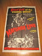 Macumba Love Orig, 1sh Movie Poster '60 Voodoo queen!