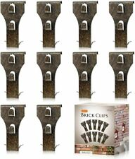 10 Pack Heavy Duty Brick Clips Brick Picture Hangers Siding Hooks Wall Clips