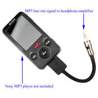 Sony Walkman MP3 Player Line Out LOD Interconnect Cable To Headphone Amplifier