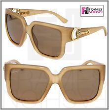 68e8d1b4a1f28 GUCCI Diamantissima GG3713S Opal Beige Brown Square Oversized Sunglasses  3713