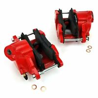 Red GM Large Bore Single Piston Calipers (1 Set) front parts suspension crate