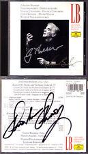 Gidon KREMER & Mischa MAISKY Signiert BRAHMS Violin Double Concerto BERNSTEIN CD
