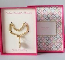 toggle bracelet w/ locket charm Vera Bradley Collect Beautiful Moments Gold-tone