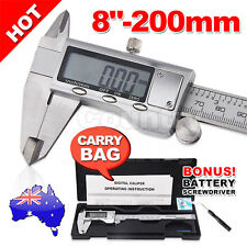 "200mm(8"") Electronic Digital Stainless Vernier Caliper Micrometer with Case"