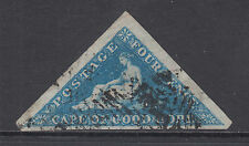Cape of Good Hope Sc 2, SG 2 used 1853 4p deep blue Hope Seated, almost VF