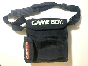 Official Nintendo Game Boy Carry Soft Case Travel Bag Black With Strap