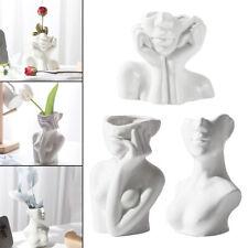 Abstrakte Keramik Vase für weibliches Gesicht Niedliche Blumentöpfe Kleiner