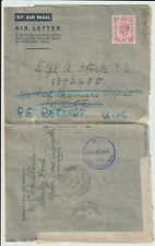 """GB/MALTA - 1943 GVI """"LOOE"""" TO """"CHIEF ENGINEERS OFFICE, MALTA"""""""