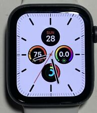 Apple Watch Series 5 44mm Gray Aluminium Case White Sport Band GPS + CELLULAR