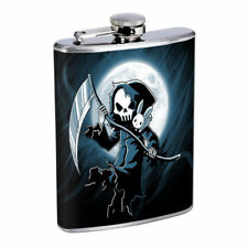 Reaper Moon Em1 Flask 8oz Stainless Steel Hip Drinking Whiskey
