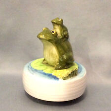 Otagiri  2 Frog Music box Japan Song-'Some Day My Prince Will Come' Rare